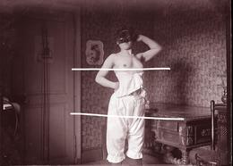 NU MAISON CLOSE TIRAGE MODERNE D APRES PLAQUE PHOTO ANCIENNE - Reproductions