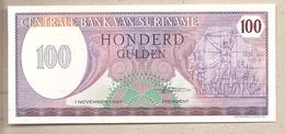 Suriname - Banconota Non Circolata FdS Da 100 Fiorini P-128b - 1985 - Suriname