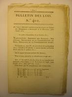 BULLETIN DES LOIS DE 1811 - TABAC HOLLANDE AMSTERDAM ROTTERDAM - OUVRIERS MILITAIRES METZ - LIPPE ALLEMAGNE - Decrees & Laws