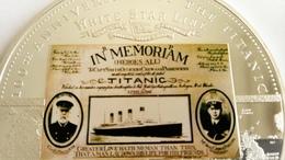 TITANIC 1912- 2012 MEDAILLE COMMEMORATIVE DU NAUFRAGE DU PAQUEBOT TITANIC - Maritime Decoration