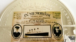 TITANIC 1912- 2012 MEDAILLE COMMEMORATIVE DU NAUFRAGE DU PAQUEBOT TITANIC - Decoración Maritima