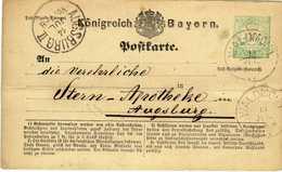 Bayern / Bavaria Ganzsache 1873/74 P 1 I, Gelaufen [080718KIV] - Enteros Postales