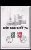 (art2726) - 3 Reich Gedenkblatt - Grune Wosche Berlin 1939 - Briefe U. Dokumente