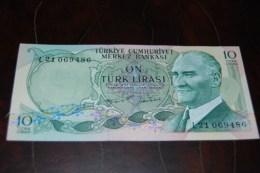 1975 Türkei 10 Lira  / 6. Emisyon 2. Tertip Serie : L / UNC - Turquie