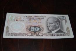 1976  Türkei 50 Lira  / 6. Emisyon 1. Tertip Serie : I / UNC - Turkey