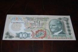 1972  Türkei 100 Lira  / 6. Emisyon 1. Tertip Serie : E / UNC - Turkey