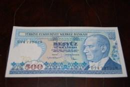1984 Türkei 500  Lira  / 7. Emisyon 2. Tertip Serie : D  / UNC - Turkey