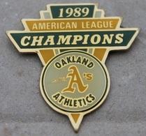ATHLETICS D'OAKLAND - A'S - AMERICAN CHAMPIONS LEAGUE 1989 - BASEBALL - USA  -     (20) - Baseball