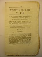BULLETIN DES LOIS DE 1811 - POLDERS - TRAVAUX PUBLICS SEINE - TABACS - DESERTEUR REFRACTAIRE - HOLLANDE HOLLAND PAYS BAS - Decrees & Laws