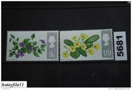 Großbritannien   /     1967    Mi. 450 X - 451 X  **   Postfrisch - 1952-.... (Elisabetta II)
