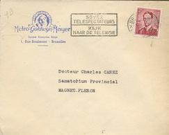 TV Flamme.sur Enveloppe De La Metro Goldwin Mayer à Bruxelles.  1955 - Kino