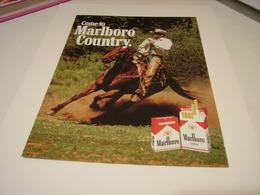 ANCIENNE PUBLICITE CIGARETTES MARLBORO COUNTRY 1987 - Tabac (objets Liés)