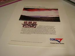ANCIENNE PUBLICITE  DES COMPAGNIES GENERALE MARITIME 1987 - Bateaux