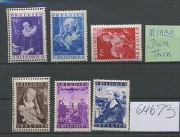 Ex Blocs. 792/797 ** Sans Charnière. Cote 340,- E.  Classic Paintings. Jordeans -  Van Der Weyden  Music Christ Madone - Belgique