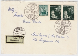 "1953, "" Christkindl ""portogerecht Nach Italien , #a668 - 1945-60 Briefe U. Dokumente"