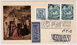 """1966, """" Christkindl """" Nach Jordanien,dort Nachfrankiert !! RR! , #a669 - 1961-70 Briefe U. Dokumente"""