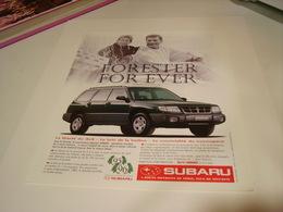 ANCIENNE PUBLICITE VOITURE SUBARU 1997 - Cars