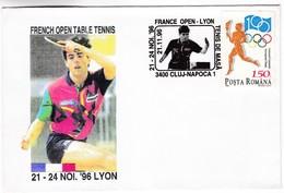 M316 Français Ouvert Tennis De Table Championnat Lyon 1996 French Open Table Tennis Championship Romania Postmark - Tenis De Mesa