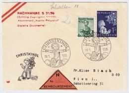"1955 (6.1.), "" Christkindl ""Nachnahme ! Kosel-Brief ,selten ! #a670 - 1945-60 Briefe U. Dokumente"