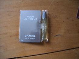 Miniature Chanel Pour Monsieur EDT 4ml Avec Plaque Fer Sous Blister - Miniatures Men's Fragrances (in Box)