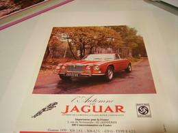 ANCIENNE PUBLICITE VOITURE JAGUAR 1983 - Cars