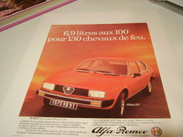 ANCIENNE PUBLICITE VOITURE ALFA ROMEO ALFETTA  1981 - Cars