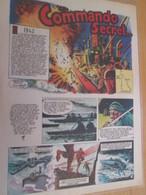 CLI718 HISTOIRE VRAIE : COMMANDO SECRET GUERRE 39-45 , 2 Feuilles 4 Pages Prises Dans Revue TINTIN Années 70/80 - Livres, BD, Revues