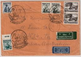 """1962, """" Christkindl """" , Nach Australien! , #a673 - 1945-.... 2nd Republic"""