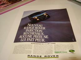 PUBLICITE AFFICHE VOITURE LAND ROVER  4X4 1987 - Cars
