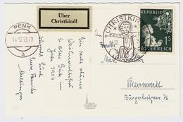 "1953, "" Christkindl ""  Bedarf ! Mit Leit-Zettel !, #a674 - 1945-60 Briefe U. Dokumente"