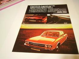 PUBLICITE AFFICHE VOITURE AUDI 100 GL  1972 - Cars