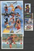 Antigua 1996 Olympic Games Atlanta, Cycling Etc. Set Of 4 + Sheetlet + S/s MNH - Summer 1996: Atlanta