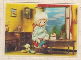 8AK1568 CARTE EFFET RELIEF XOGRAPH TRICOT  2 SCANS - Cartes Postales