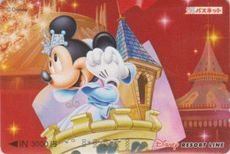 Carte Prépayée Japon - DISNEY RESORT - MINNIE - Japan Prepaid Card Passnet Karte - Disney