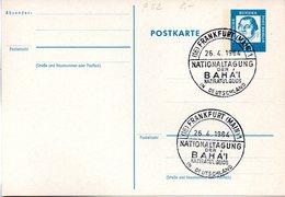 "WB Amtl. Ganzsachen-Postkarte Sonderstempelbeleg P62 Wst. ""Martin Luther"" 15(Pf) Blau, SSt 26.4.64 FRANKFURT (MAIN) - Postales - Usados"