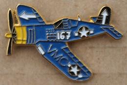 AVION BLEU A HELICE - VMC - ETOILE - STARS - N°167 -        (20) - Airplanes