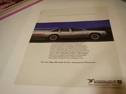 ANCIENNE PUBLICITE VOITURE AMERICAN CAR DE GENERAL MOTORS 1979 - Cars