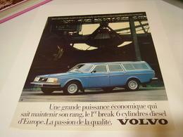PUBLICITE AFFICHE VOITURE VOLVO 245 GL 1979 - Cars