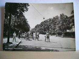 1946 - Imola - Via Dante - Bambini In Bicicletta - Mamma Con Bambina - Animata - Cartolina Originale Storica - Imola