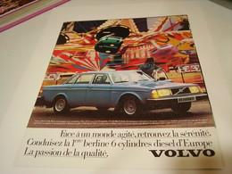 PUBLICITE AFFICHE VOITURE VOLVO 244 GL 1979 - Cars