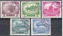 """Austria Autriche K & K-Österreich1915: """"Kriegs-Witwen & Waisen-Hilfe"""" Michel-No.180-184 O (Michel 2014 = 10.00 Euro) - 1. Weltkrieg"""