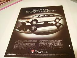 ANCIENNE PUBLICITE AFFICHE VOITURE  ROVER  3500 1979 - Cars