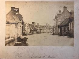 Très Rare Photo Originale De Besse Sur Braye (Sarthe) Vers 1880 - Route De Saint Calais - Places