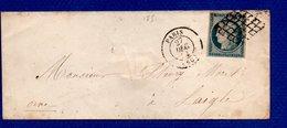 Enveloppe De Paris  -  Pour Laigle  --  27 Dec 1851 - Marcophilie (Lettres)