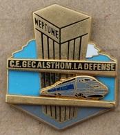 TGV - TRAIN GRIS ET BLEU  - SCNF - C.E. GEC ALSTHOM. LA DEFENSE - NEPTUNE - FRANCE  -    (20) - TGV