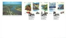 1993   Heritage Rivers, Series III  Sc 1489a  Strip Of 5 - 1991-2000