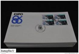 Kanada  1986   FDC  - Mi. 989 VB.  - Sonderausstellung EXPO ` 86 , Vancouver  -  ( T - 92 ) - 1981-1990
