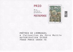 PAP REPONSE: Période Ciappa: Prêtes De L'émmanuel. N° Verso 167946 - Entiers Postaux