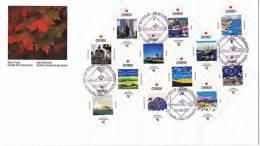 1992  Fête Du Canada Tableaux Des Provinces Et Territoires Série Complète - First Day Covers