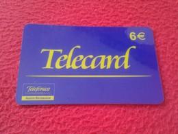 ANTIGUA TARJETA TELEFÓNICA PHONE CARD ESPAÑA SPAIN ESPAGNE ? TELECARD TELEFÓNICA AGENTE DISTRIBUIDOR 6 EUROS VER FOTO/S - Espagne